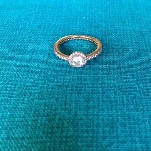 Pandora Classic Elegance Ring in Rose Gold